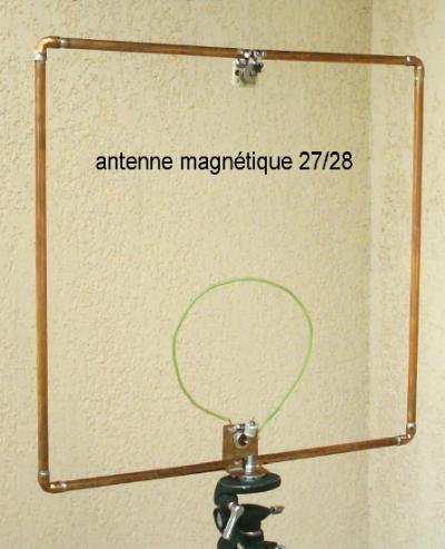Radioamateur ca antennes cadre magn tique 27 28 mhz for Fabriquer antenne fm interieur